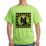 Solid Black GSD Green T-Shirt