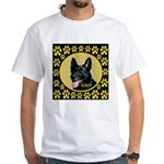 Solid Black GSD White T-Shirt