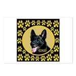 Solid Black GSD Postcards (Package of 8)