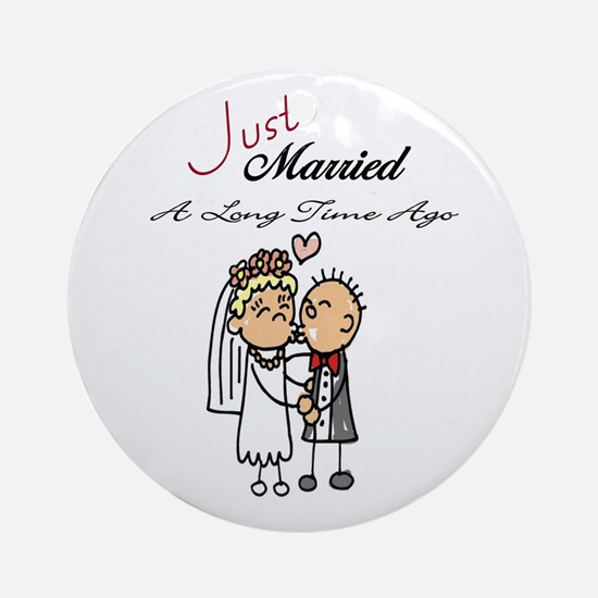 Just Married A Long Time Ago Anniversary Gifts Orn