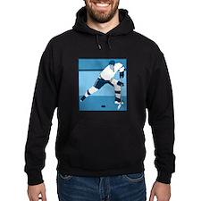 Ice Blue Hockey Logo Hoodie