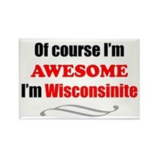 Wisconsin Is Awesome Rectangle Magnet