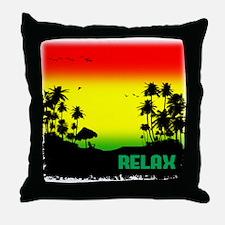 rasta relax Throw Pillow