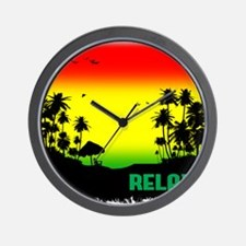 rasta relax Wall Clock