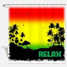 rasta relax Shower Curtain