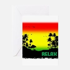 rasta relax Greeting Cards