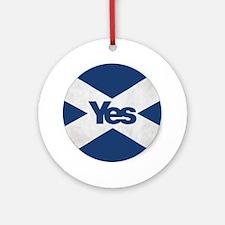 Unique Yes Round Ornament