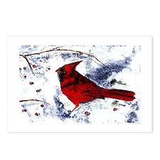 Unique Peace love cardinals Postcards (Package of 8)