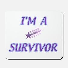 I'M A SURVIVOR WITH STARS Mousepad