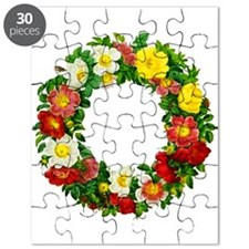 Rose Wreath by Redoute Puzzle