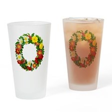 Rose Wreath by Redoute Drinking Glass