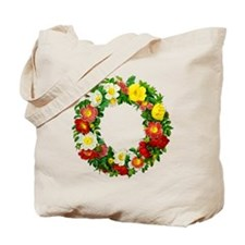 Rose Wreath by Redoute Tote Bag