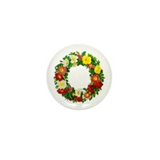 Rose Wreath by Redoute Mini Button (10 pack)