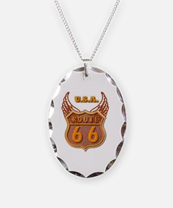 Route 66 Scenic Sign Necklace