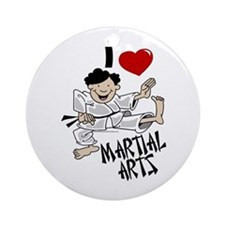 I Love Martial Arts Ornament (Round)