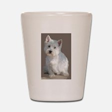 Unique West highland white terrier Shot Glass