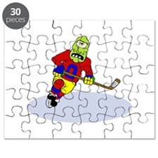 Alien Hockey Player Puzzle