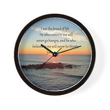 JOHN 6:35 Wall Clock