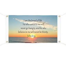 JOHN 6:35 Banner