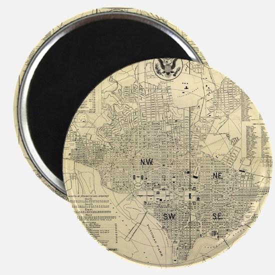 Vintage Map of Washington D.C. (1909) Magnets