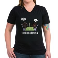 Carbon Dating Women's V-Neck Black T-Shirt