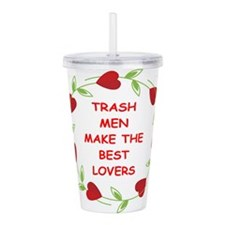 TRASH.png Acrylic Double-wall Tumbler