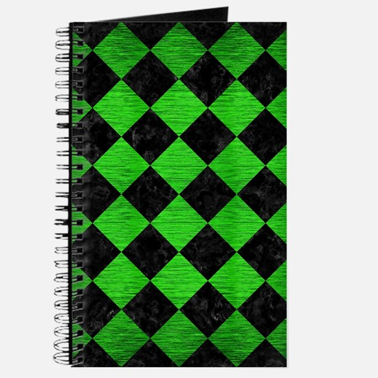 SQUARE2 BLACK MARBLE & GREEN BRUSHED METAL Journal