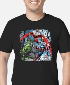 Falcon, Hulk, and Capt Men's Fitted T-Shirt (dark)