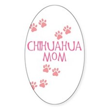 Pink Chihuahua Mom Oval Decal