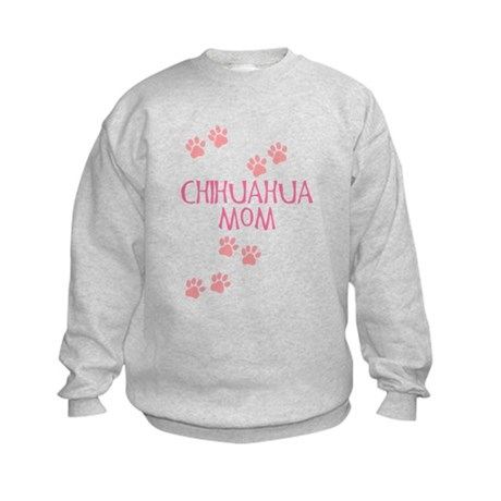 Pink Chihuahua Mom Kids Sweatshirt