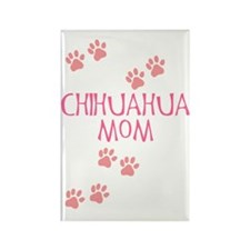 Pink Chihuahua Mom Rectangle Magnet (10 pack)