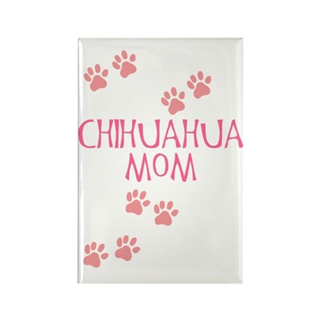 Pink Chihuahua Mom Rectangle Magnet