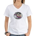 Tulseytown Po-lice Women's V-Neck T-Shirt