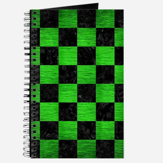 SQUARE1 BLACK MARBLE & GREEN BRUSHED METAL Journal