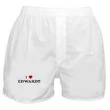 I Love EDWARD!!! Boxer Shorts