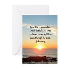 JOHN 11:25 Greeting Cards (Pk of 10)