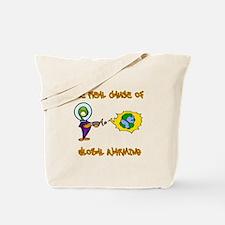 Planet Warming Alien Tote Bag