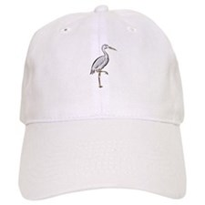 Crane On One Foot Baseball Cap