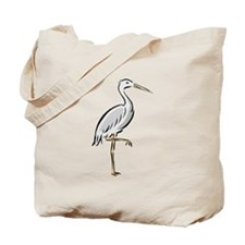Crane On One Foot Tote Bag