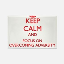 Keep Calm and focus on Overcoming Adversity Magnet