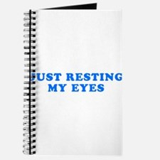 Just Resting My Eyes Journal