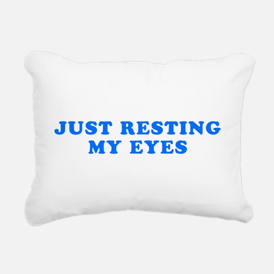 Just Resting My Eyes Rectangular Canvas Pillow