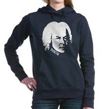 Bach Music Silhouette Women's Hooded Sweatshirt