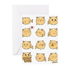 Fuzzballs Cat Greeting Cards