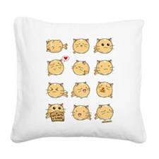 Fuzzballs Cat Square Canvas Pillow