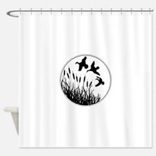 Cattails And Ducks Shower Curtain