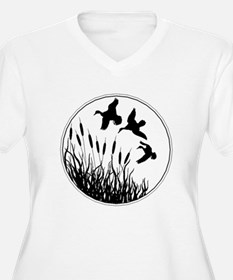 Cattails And Ducks Plus Size T-Shirt