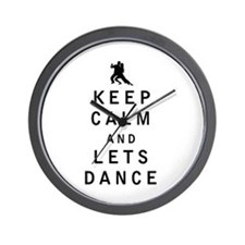Keep Calm and Lets Dance Wall Clock