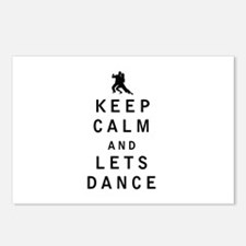 Keep Calm and Lets Dance Postcards (Package of 8)