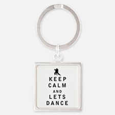 Keep Calm and Lets Dance Keychains